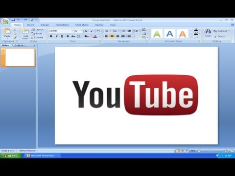 Embed Youtube Video into Powerpoint 2007 EASY (Voice Tutorial)