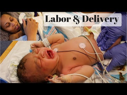 EMOTIONAL LABOR & DELIVERY VLOG | BABY PLEASE CRY! 😓