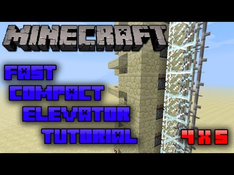 Minecraft: Fast Compact Piston Elevator Tutorial [4 x 5] | Resource-Efficient |