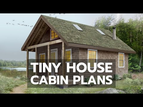 TINY HOUSE CABIN PLANS: World's Most Complete DIY Video Building Course