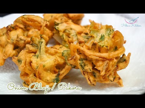 How to Make Onion Bhaji / Pakora Easy Recipe by Hiba's Kitchen
