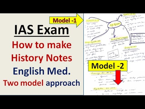 UPSC=How to Make History Notes for Quick Revision ( Eng Med)
