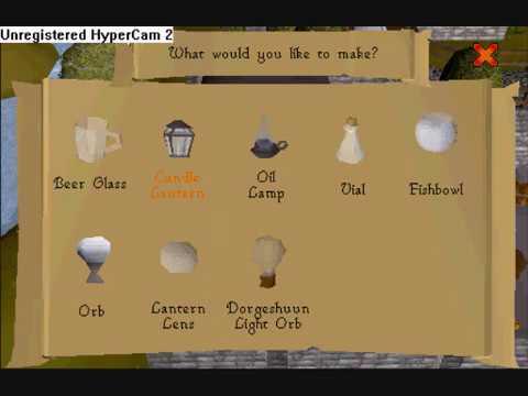 Making a lantern(Runescape)