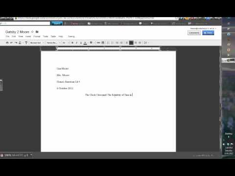 How to create an MLA heading and header for your Google doc