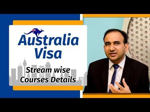 Australia Student Visa - Stream wise Courses Details