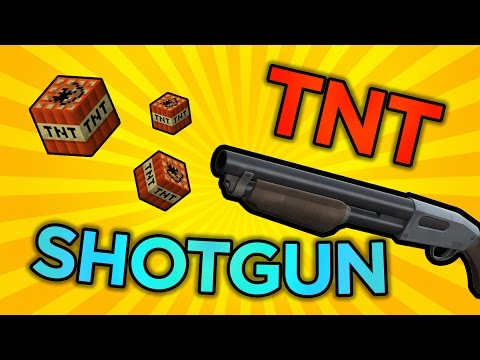 TNT SHOTGUN!? - Slimeblock TNT Cannon in Minecraft Version 2!