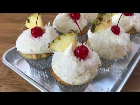 How to Make Piña Colada Poke Cupcakes