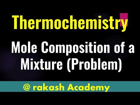 Mole composition of mixture