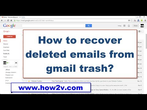 How to recover/restore deleted emails from gmail trash?