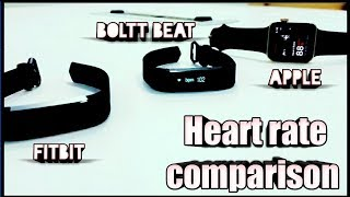 Boltt heart rate sensor comparison with apple &  fitbit