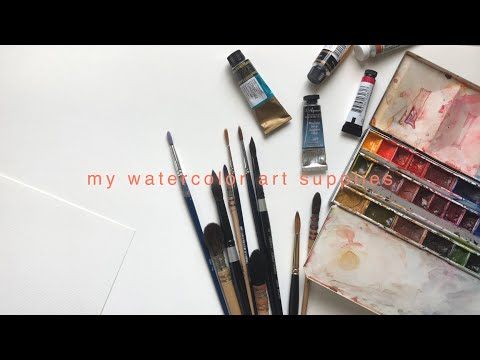 my watercolor art supplies