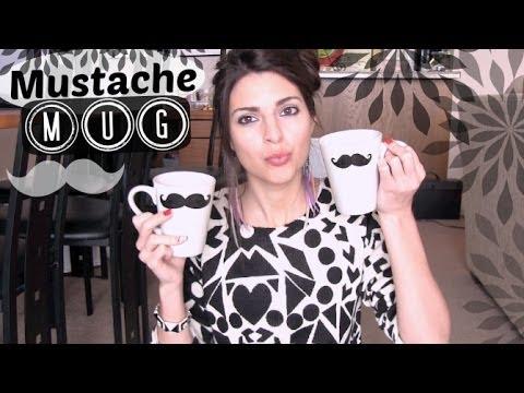 DIY SHARPIE MUG : Mustache Mugs - Holiday Gift Idea - How To   SoCraftastic