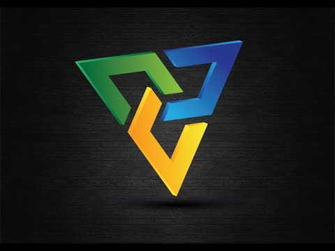 Professional 3d Triangle Logo Design-Adobe Illustrator CS6