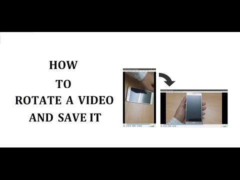 Rotate and save video using VLC media player.