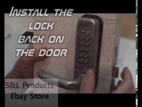 Mechanical Door Locks Digital Code Password Pin Push Button Keyless