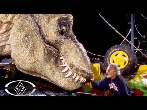 JURASSIC PARK Animatronic T-Rex Rehearsal - Behind the Scenes with the Stan Winston dinosaur crew
