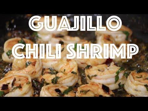 How to make Guajillo chili shrimp Recipe!  Amazing recipe!