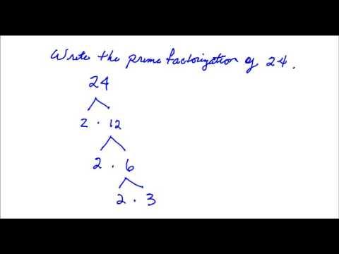 Write the Prime Factorization of 24