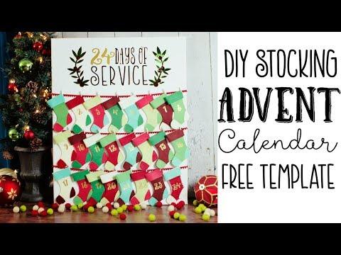 How to Make a Christmas Advent Calendar (free template)