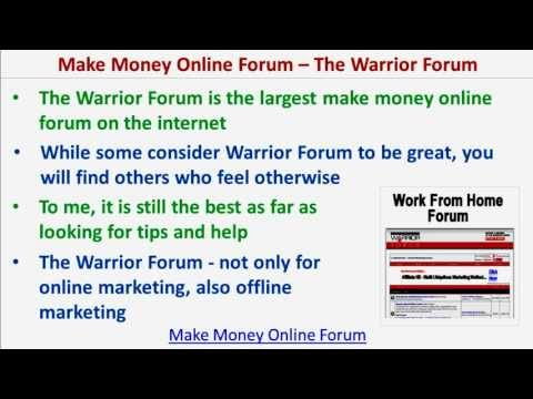 Make Money Online Forum | The Largest Make Money Online Forum