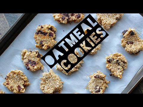 Healthy Oatmeal Cookie Recipe | How To Make Healthy Oatmeal Coconut, Raisin & Chocolate Chip Cookies
