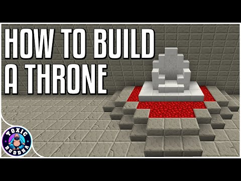 HOW TO BUILD A THRONE - Minecraft