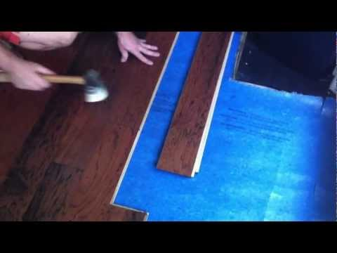 How to install engineered hardwood flooring - lock and fold