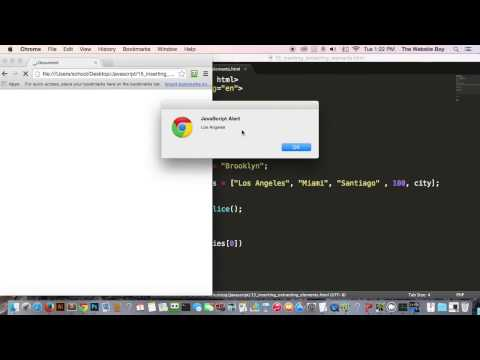 Javascript Tutorial For Beginners #15  Inserting and Extracting Strings From Arrays