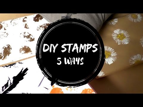 DIY 5 Easy Stamp Making Ideas | How to Make Stamps At Home | Stamps for Kids | By Fluffy Hedgehog