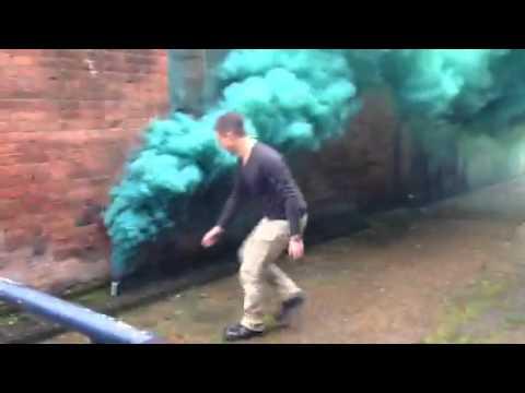 Zombie bicycle smoke grenade test