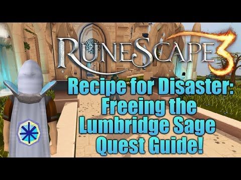 Runescape 3: Freeing the Lumbridge Sage - Recipe for Disaster Quest Guide!