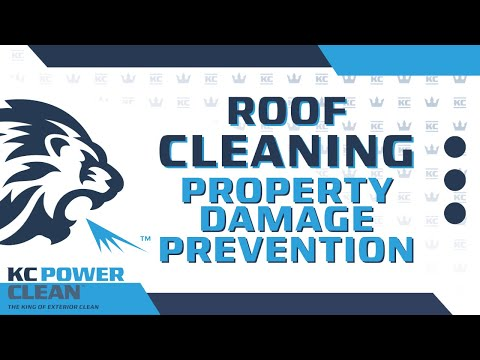 Roof cleaning property damage prevention