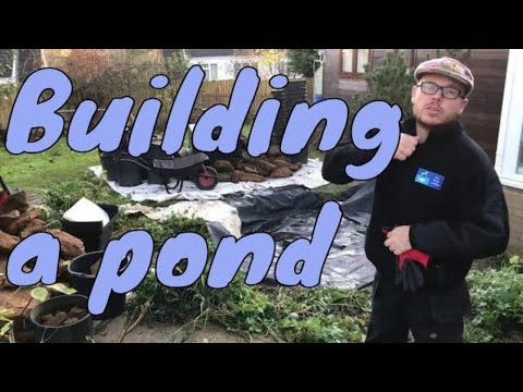 How to make a pond in the garden - Time Lapse - UK