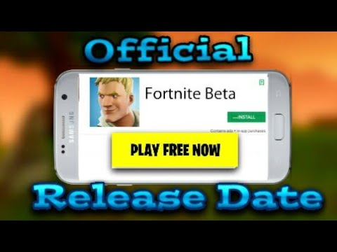 CONFIRMED FORTNITE ANDROID RELEASE DATE| (official)