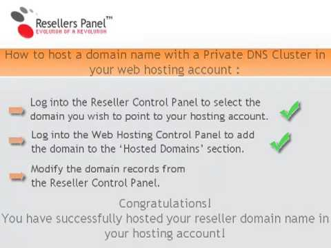 How to host a domain name with a Private DNS Cluster in a web hosting account