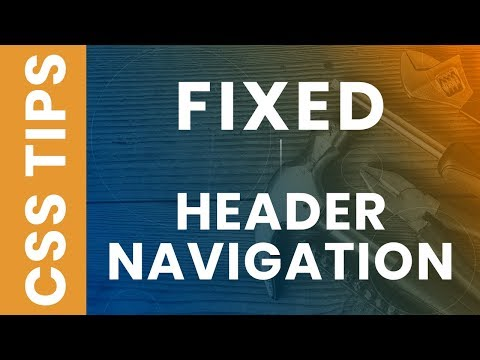 CSS Sticky Header - Fixed Navigation Menu Bar on Scroll using HTML5 and CSS3