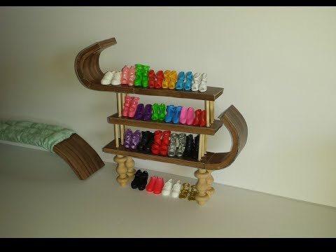 How to make a Doll Shoe Rack