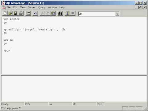 Sybase ASE - Criando Login e User