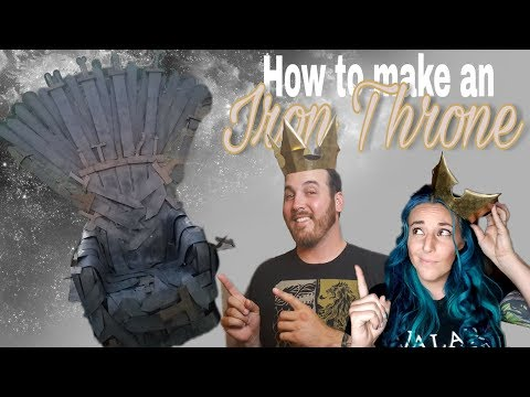DIY-How to Make an Iron Throne *for cheap* | Game of Thrones Week | Books and Looks
