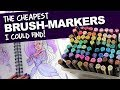 The CHEAPEST BRUSHMARKERS I Could Find MasterMarkers Review DrawingWiffWaffles