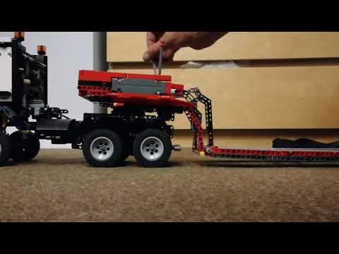 TECHNIC lego Arocs 42043 B model, lowloader,rear steering gooseneck, hydro trailer, Nooteboom design