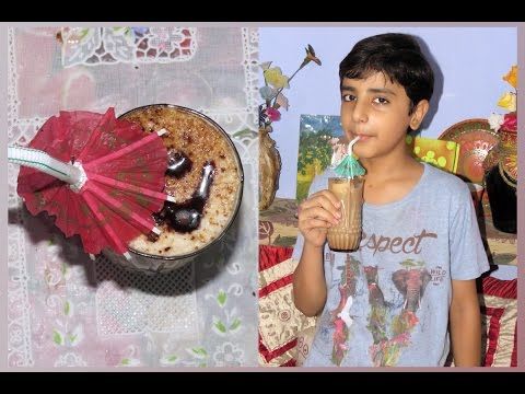 Easy Cold Coffee Recipe at Home ( in Hindi ) by 10 year old Boy Sahil Sachdeva .