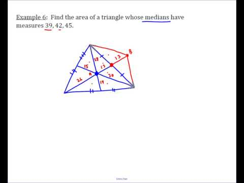 Area of a Triangle Given Medians