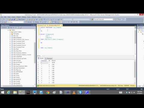SQL SERVER SSRS Lesson10 Stored Procedures Bhaskar Reddy Baddam