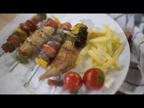 How to Grill BBQ Beef, Chicken and Veggie Kebab in the Air Fryer