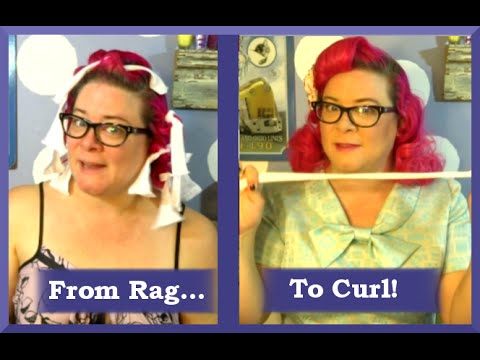 Heatless Curls with Rag Rollers