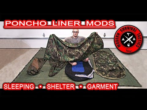 Poncho liner (Woobie) modifications / SLEEPING, SHELTER & GARMENT