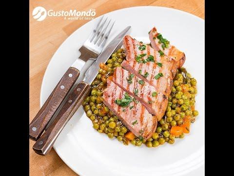 Romanian peas, vegetables and gammon recipe | Gustomondo