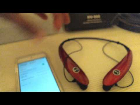 How to connect Bluetooth Headphones HV-900 to Ipod device