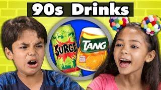 KIDS TRY 90s DRINKS! | Kids Vs. Food